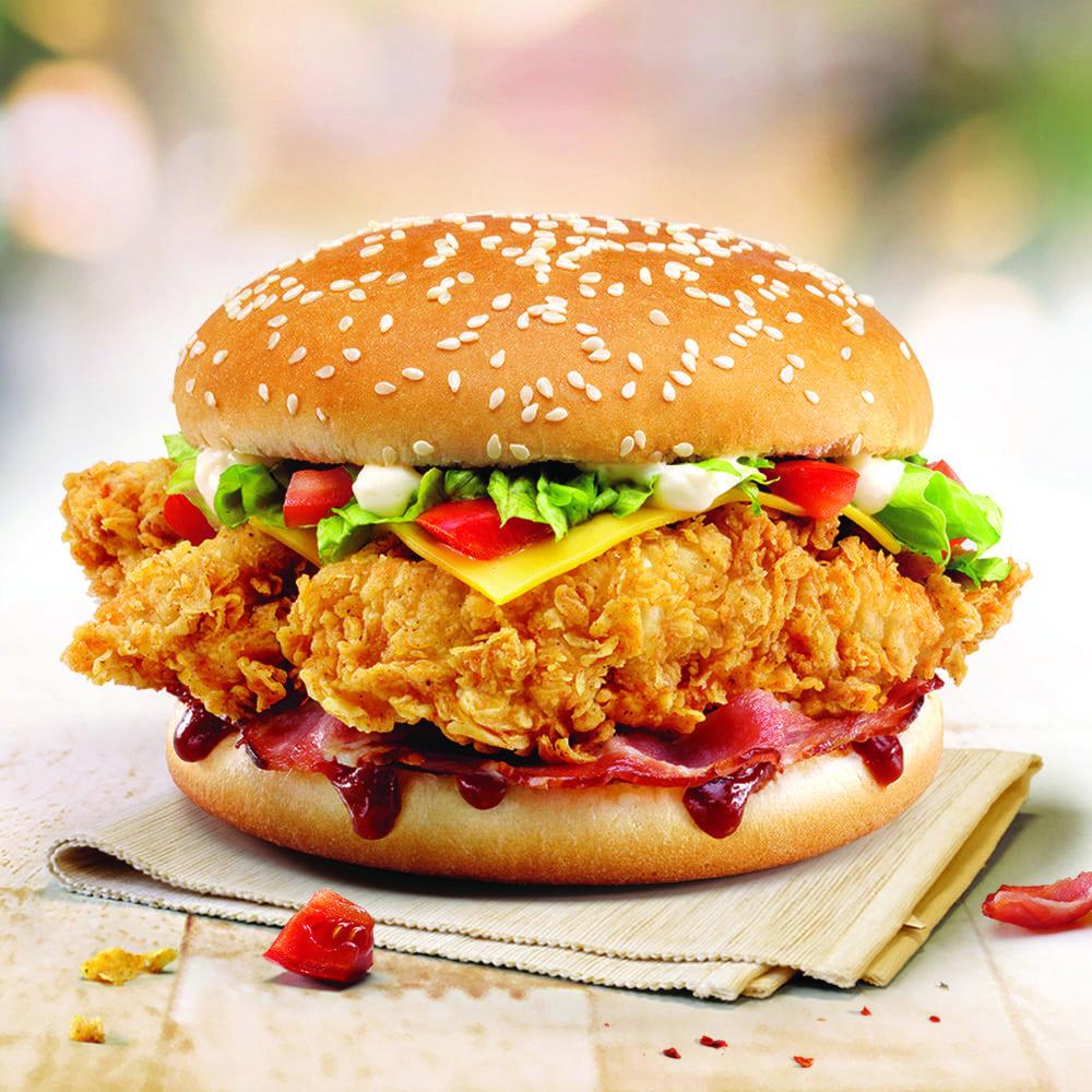 Большая булка Гамбургер